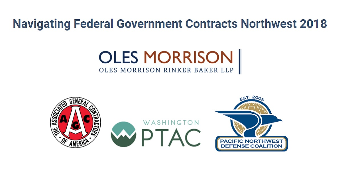 Navigating Federal Government Contracts Northwest 2018