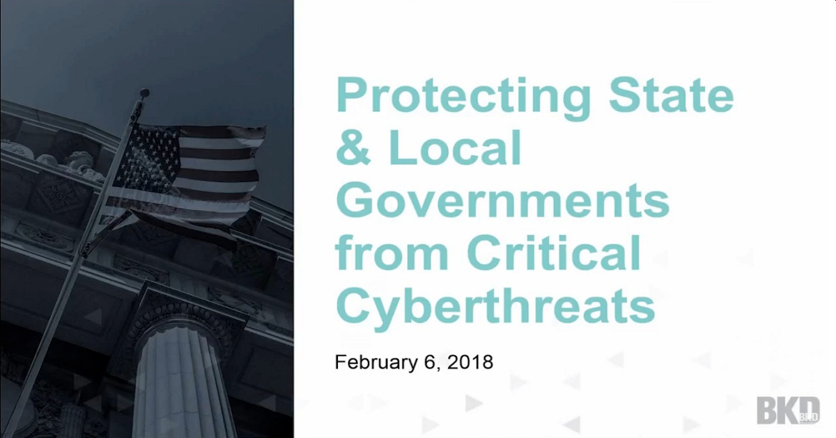 Protecting State & Local Governments from Critical Cyber Threats