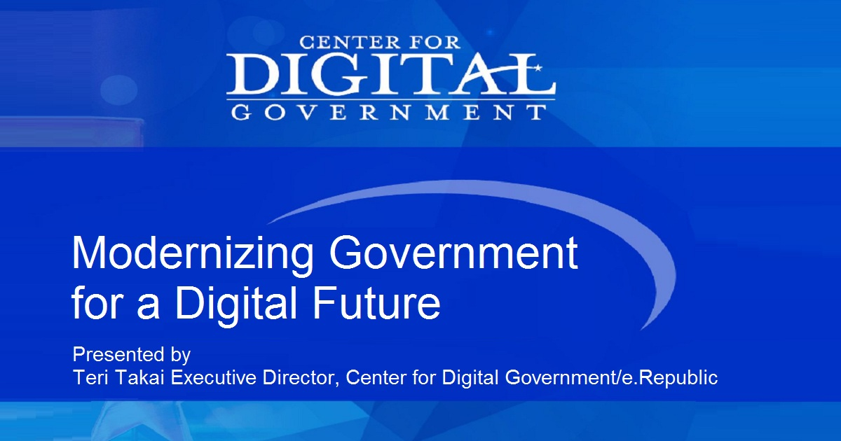 Modernizing Government for a Digital Future