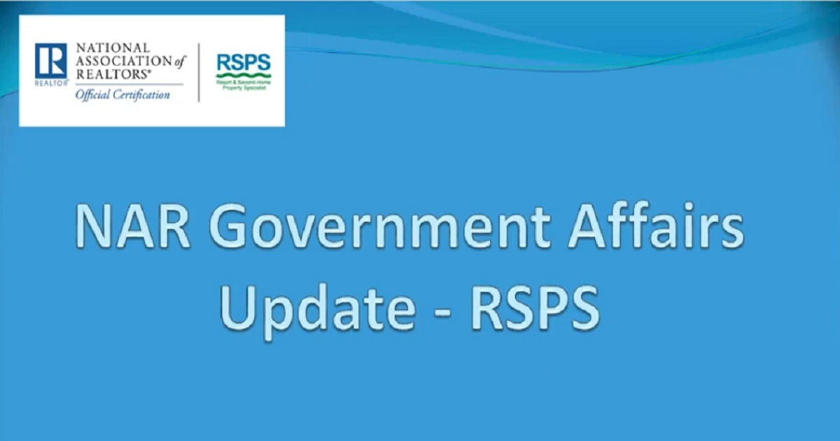 RSPS Government Affairs Update Webinar