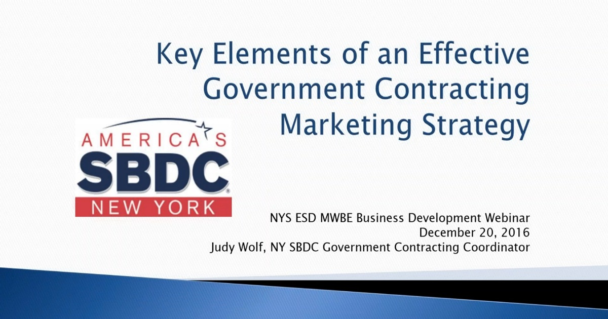 Key Elements of an Effective Government Contracting Marketing Strategy