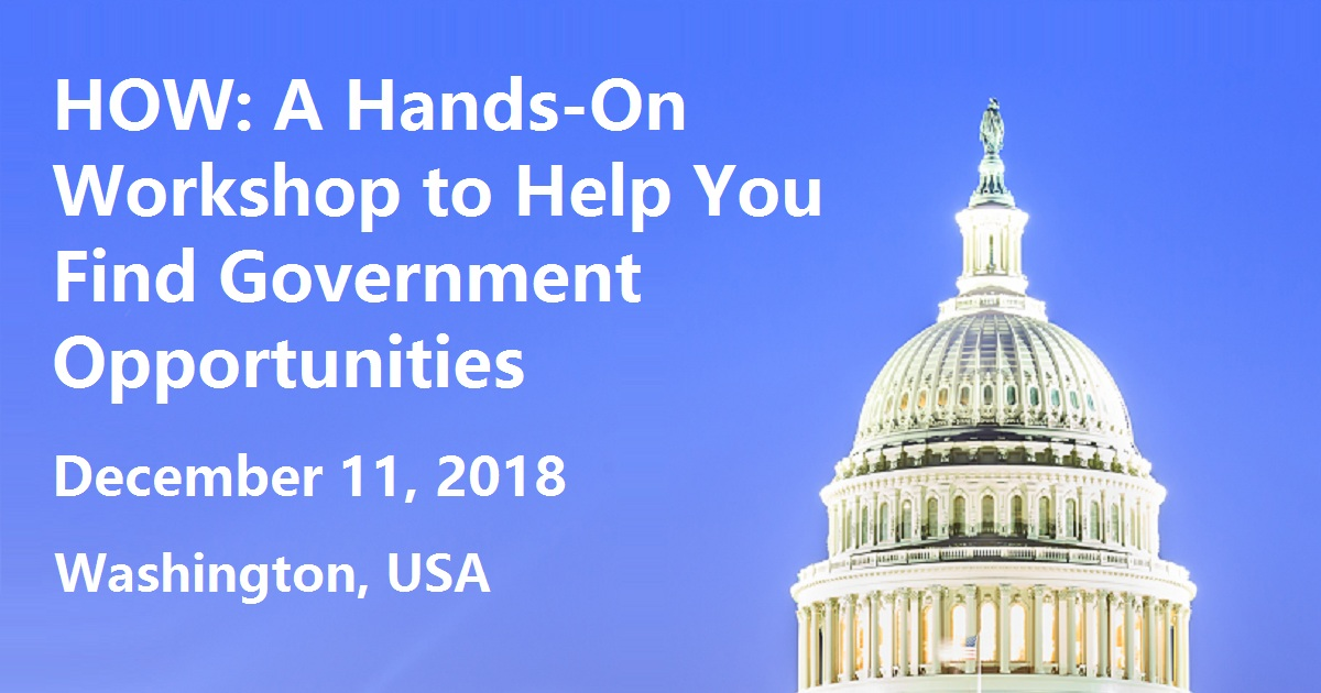 How a Hands-On Workshop to Help You Find Government Opportunities