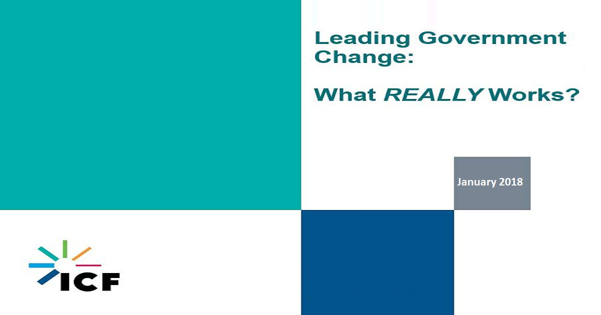 Leading Government Change – What REALLY Works?