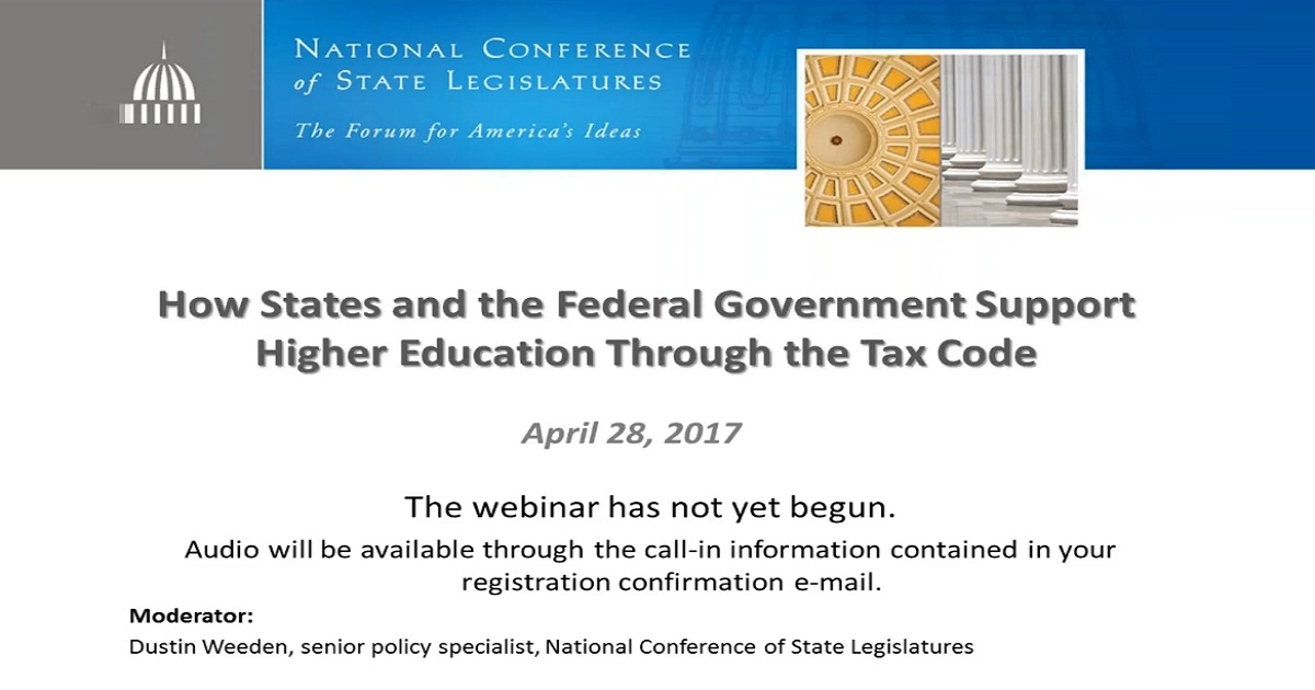 How States and the Federal Government Support Higher Education Through the Tax Code