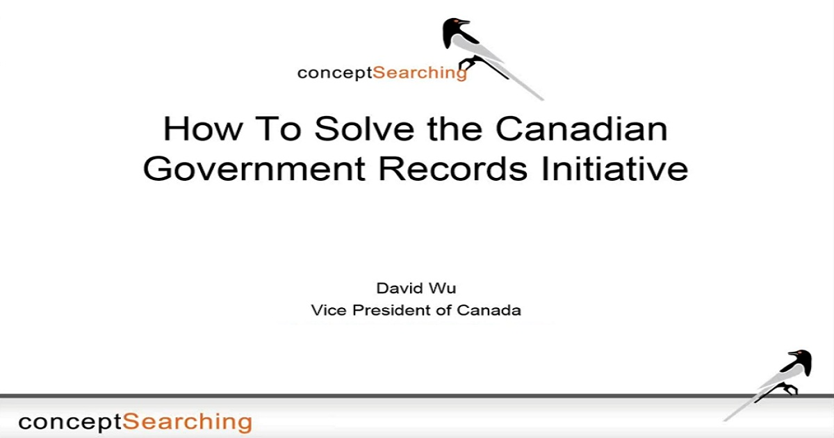 How To Solve the Canadian Government Records Initiative