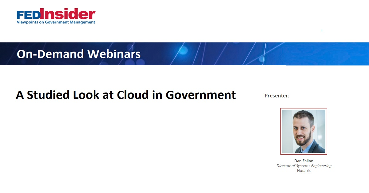 A Studied Look at Cloud in Government
