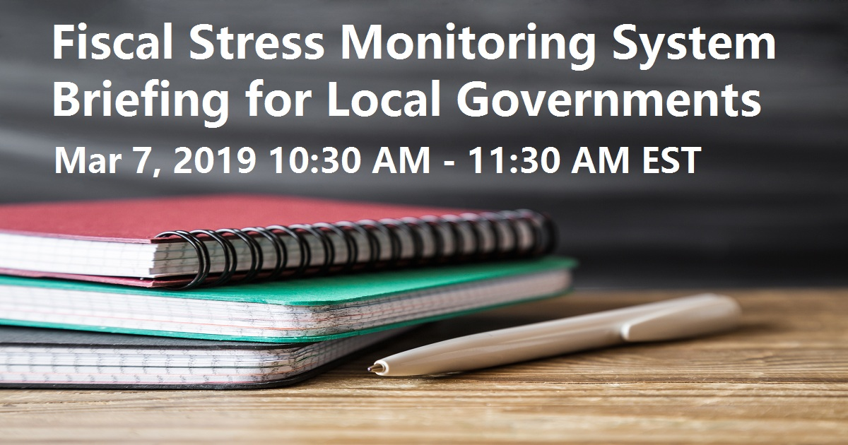 Fiscal Stress Monitoring System Briefing for Local Governments