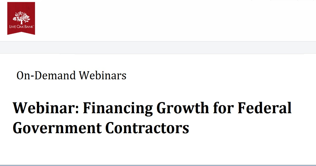 Financing Growth for Federal Government Contractors