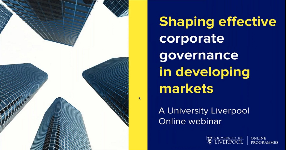 Webinar: Shaping effective corporate governance in emerging markets