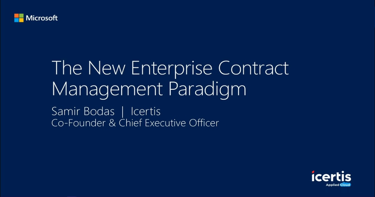 New enterprise contract management paradigm
