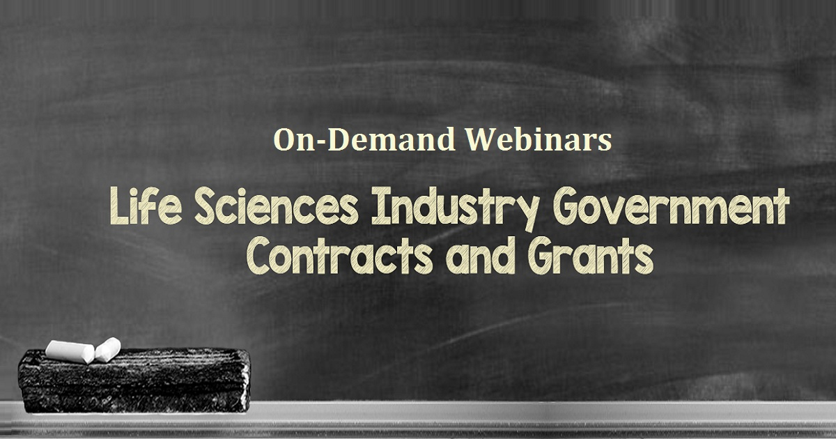 Life Sciences Industry Government Contracts and Grants