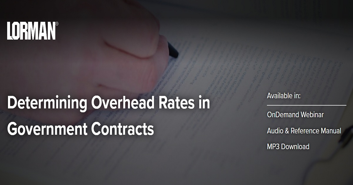 Determining Overhead Rates in Government Contracts