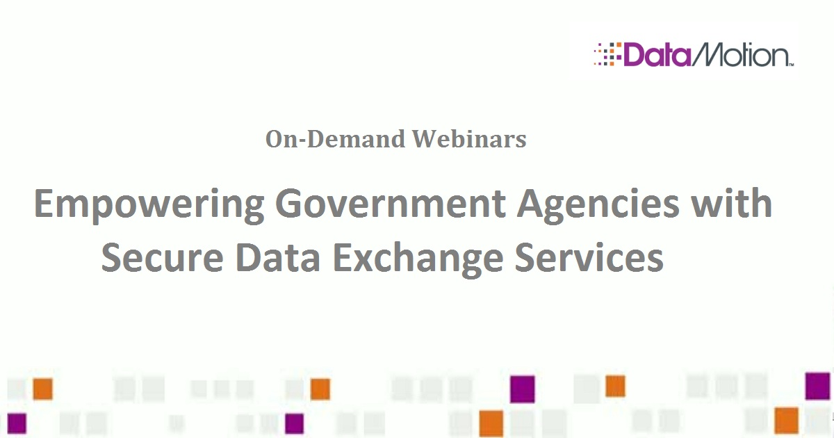 Empowering Government Agencies with Secure Data Exchange Services