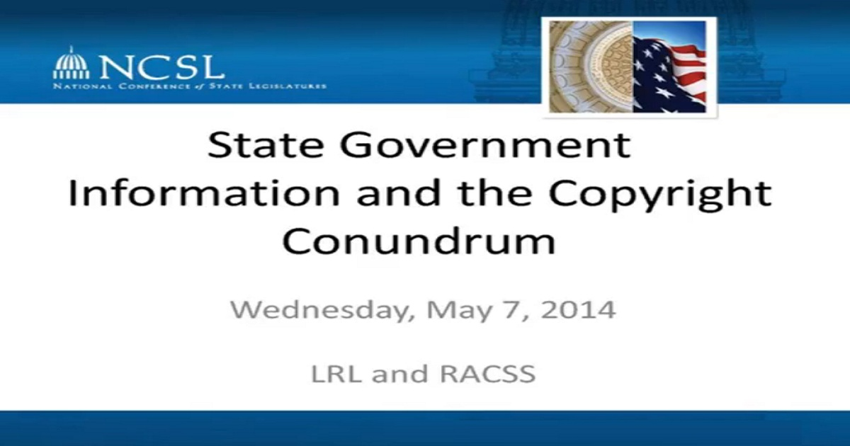 State Government Information and the Copyright Conundrum