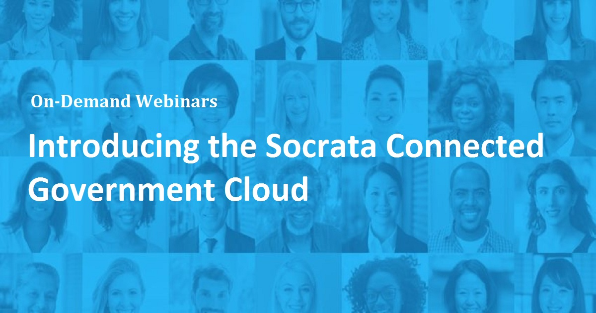 Introducing the Socrata Connected Government Cloud