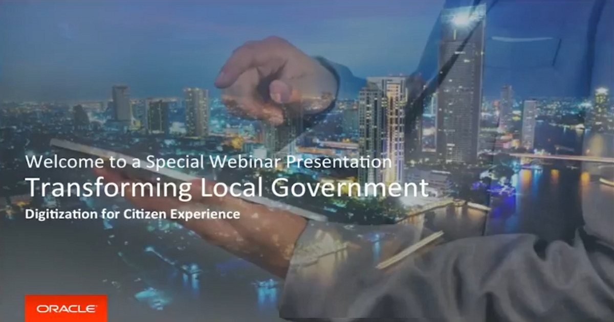 Oracle - Transforming Local Government