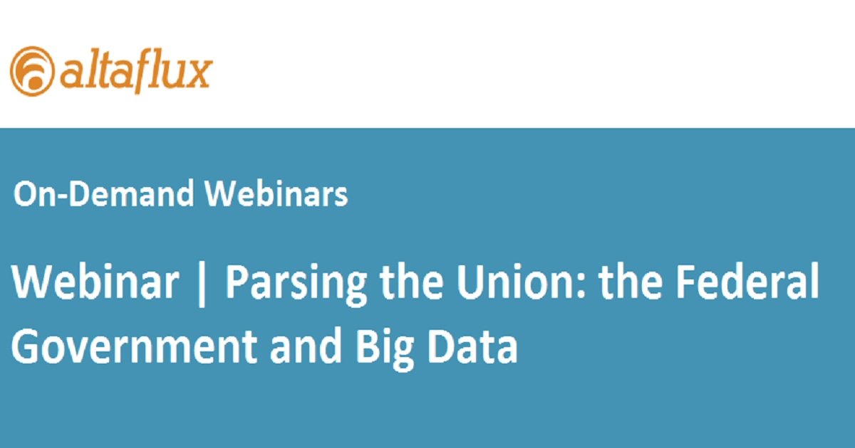 Parsing the Union: the Federal Government and Big Data