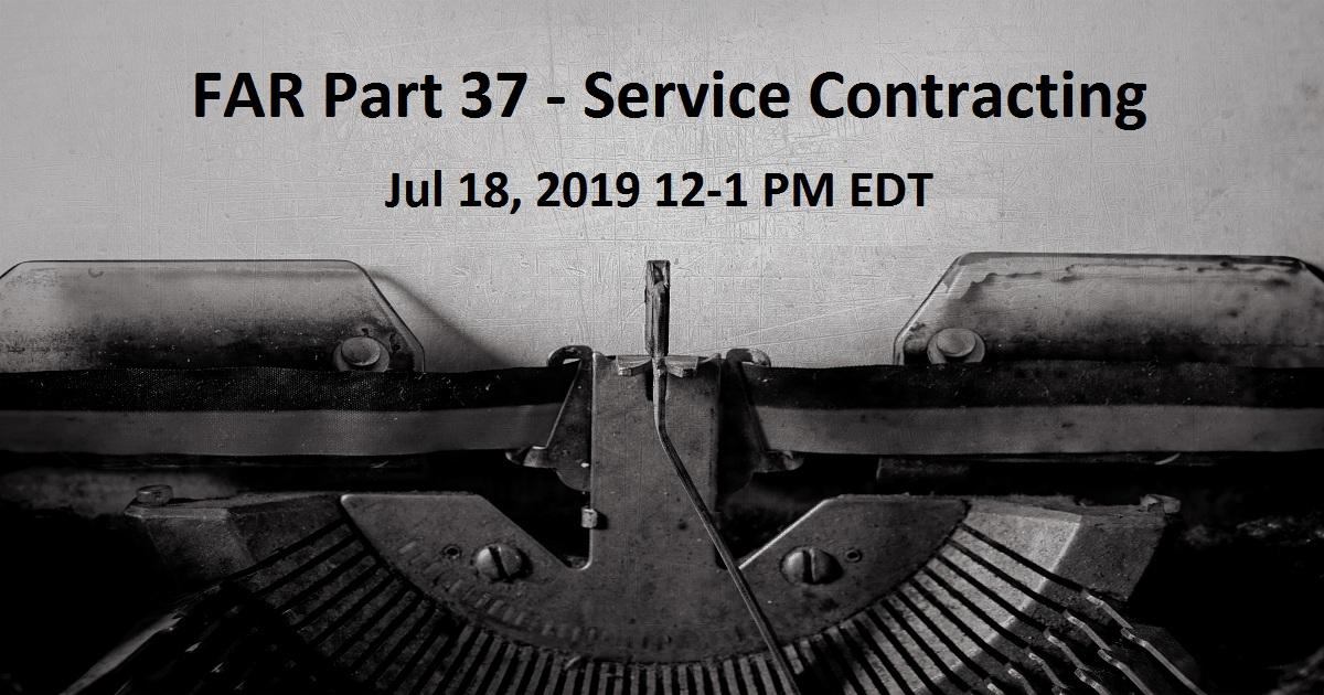 FAR Part 37 - Service Contracting