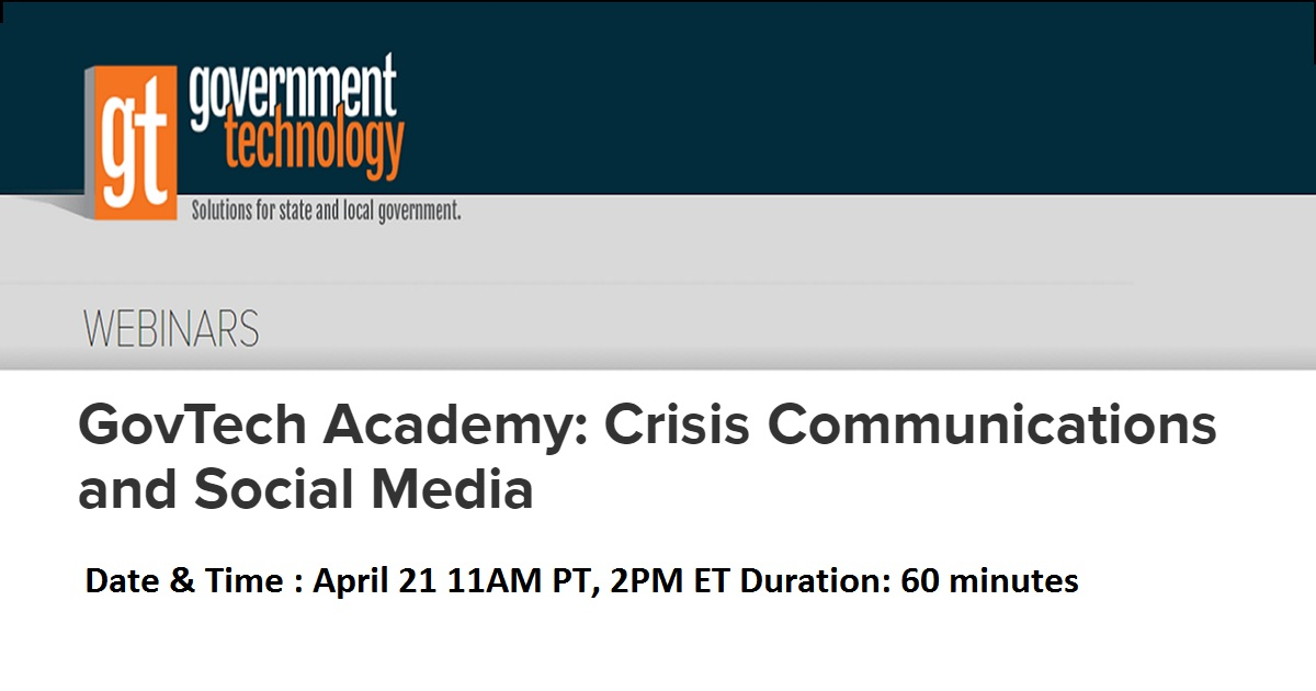 GovTech Academy: Crisis Communications and Social Media