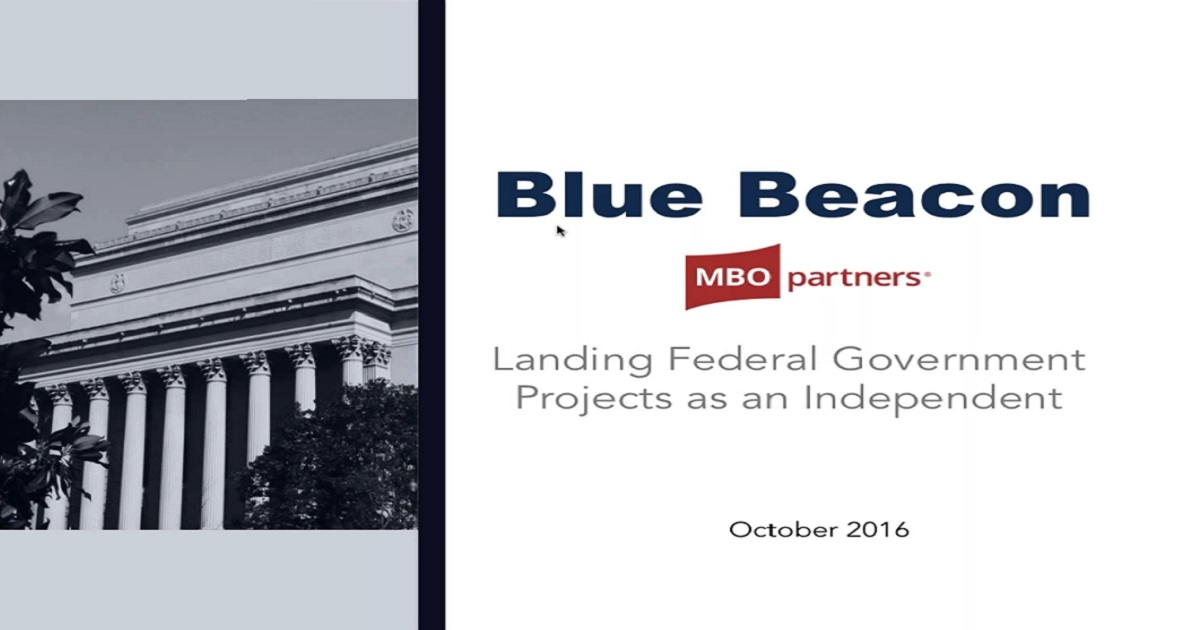 Land Federal Government Projects as an Independent Consultant