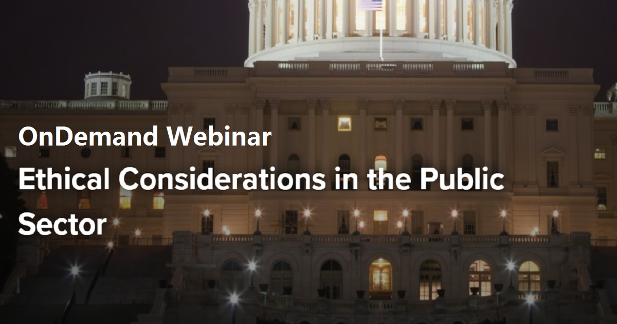 Ethical Considerations in the Public Sector