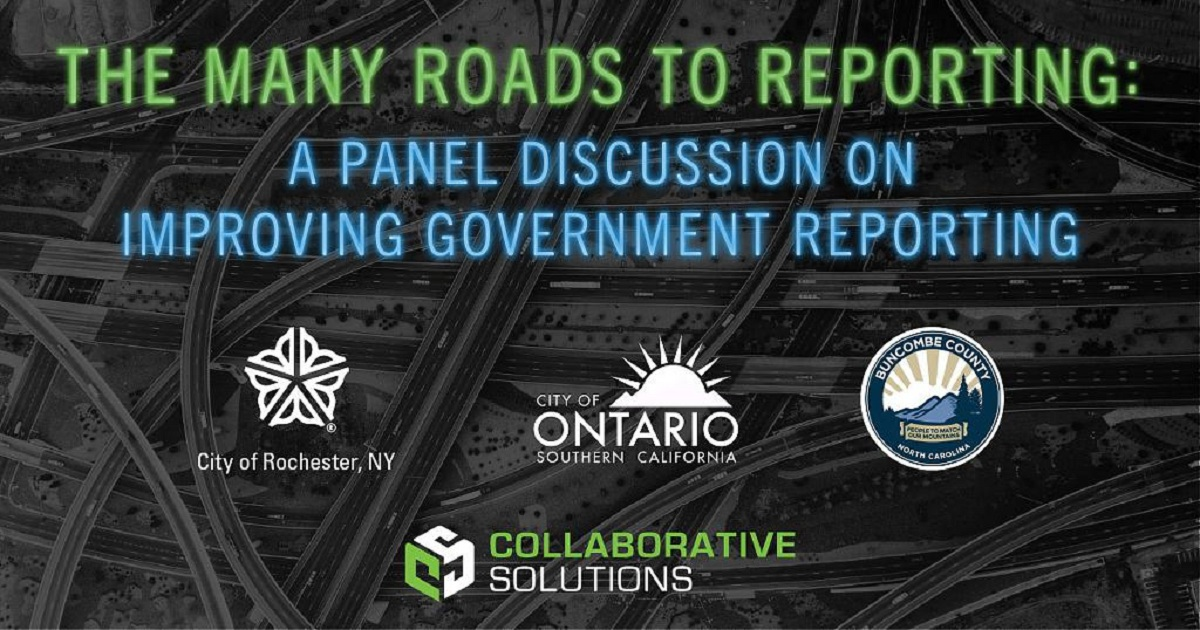 The Many Roads to Reporting: A Panel Discussion on Improving Government Reporting