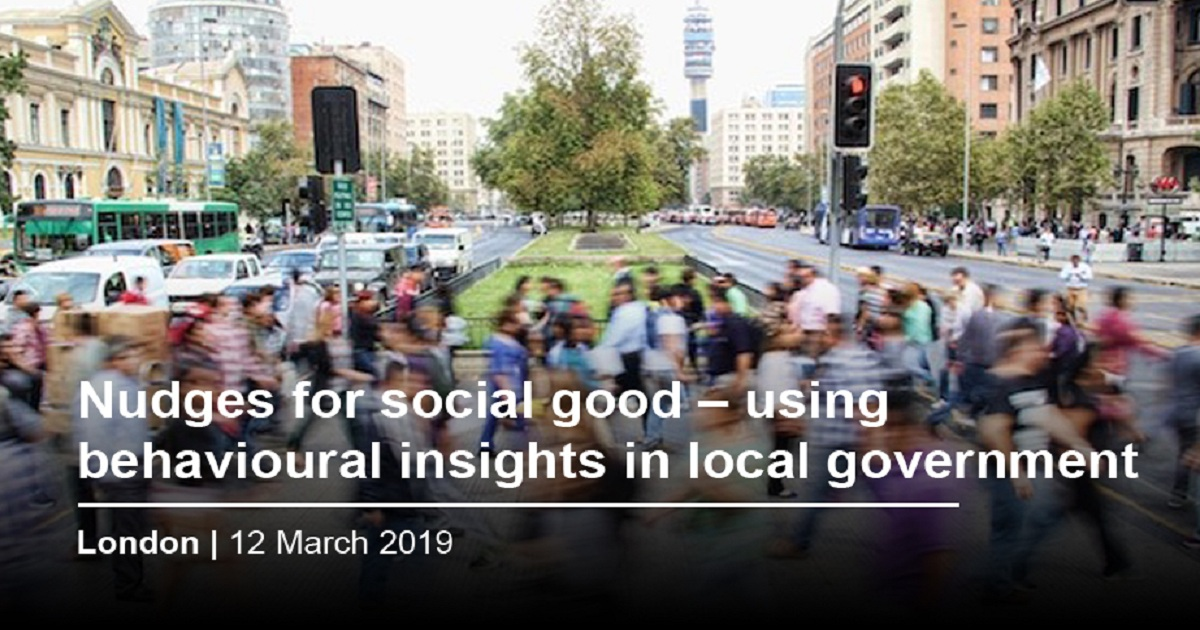 Nudges for social good – using behavioural insights in local government