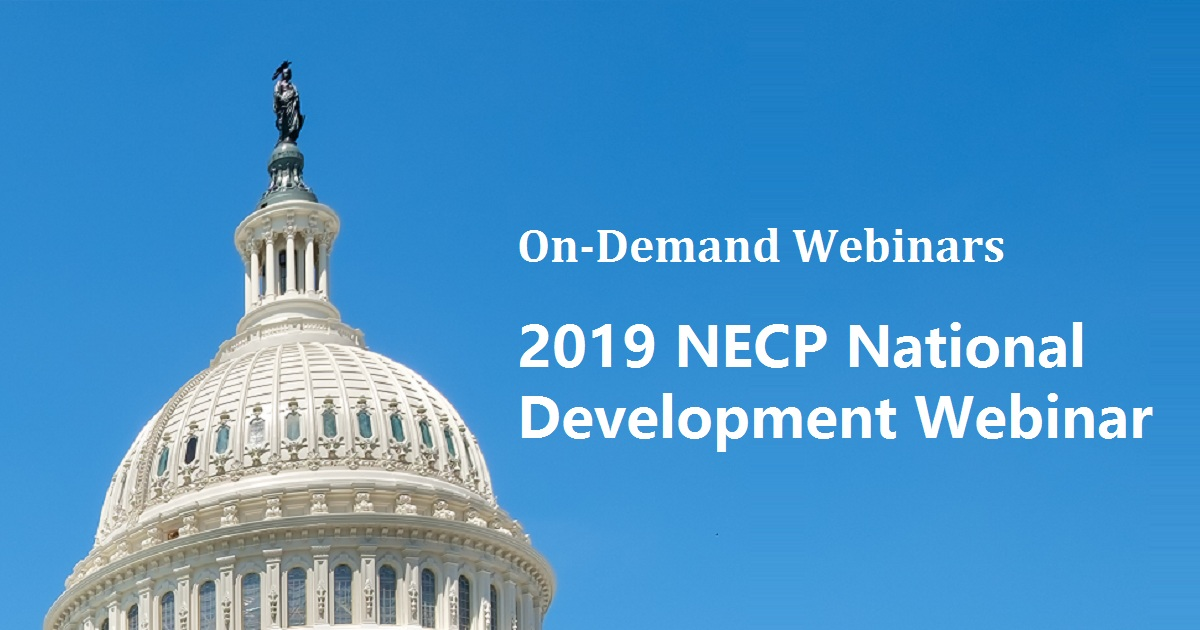 2019 NECP National Development Webinar