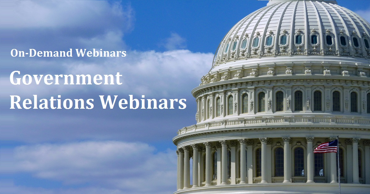 Government Relations Webinars