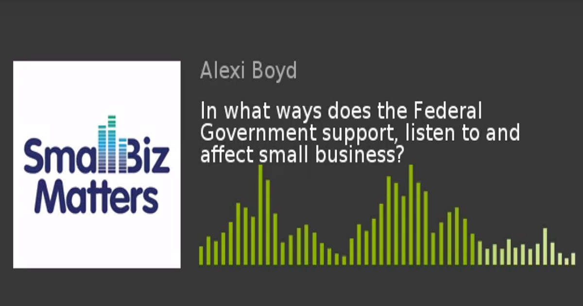 In what ways does the Federal Government support, listen to and affect small business?
