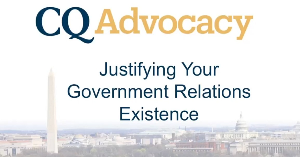 Justifying Your Government Relations Existence