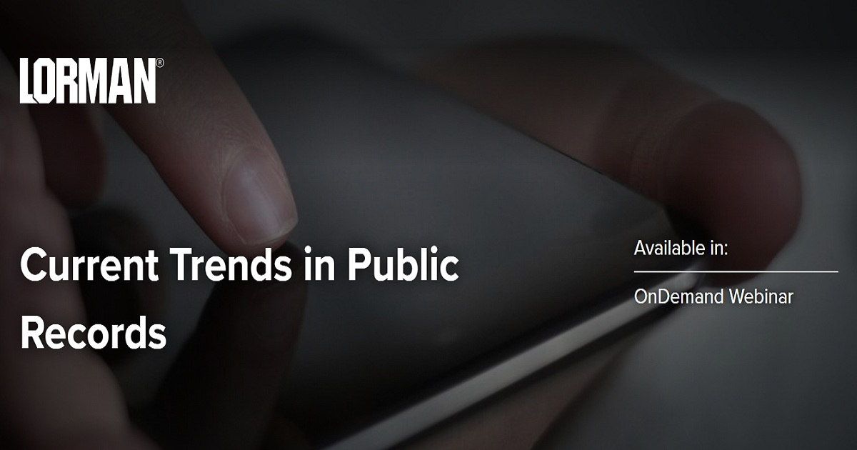 Current Trends in Public Records