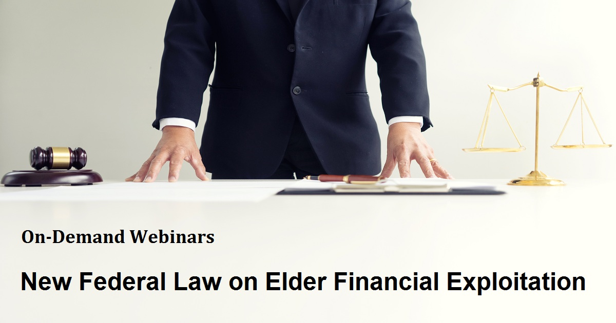 New Federal Law on Elder Financial Exploitation