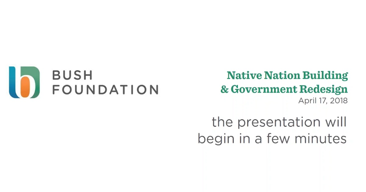 Native Nation Building and Government Redesign Informational