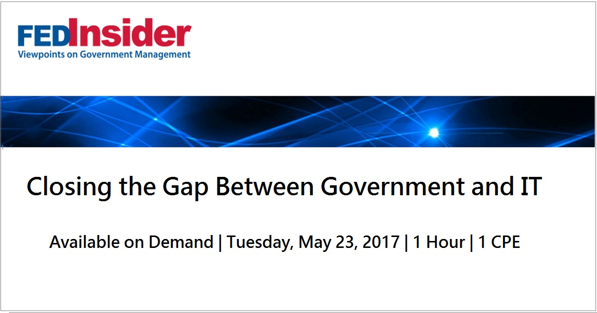 Closing the Gap Between Government and IT