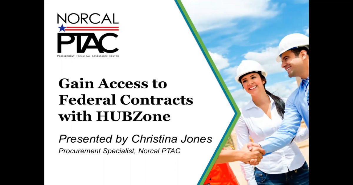 Gain Access to Federal Contracts with HUBZone - Webinar