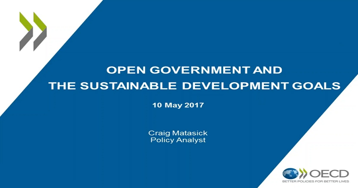 Open Government and the Sustainable Development Goals