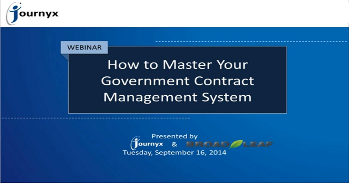 How to Master Your Government Contract Management System