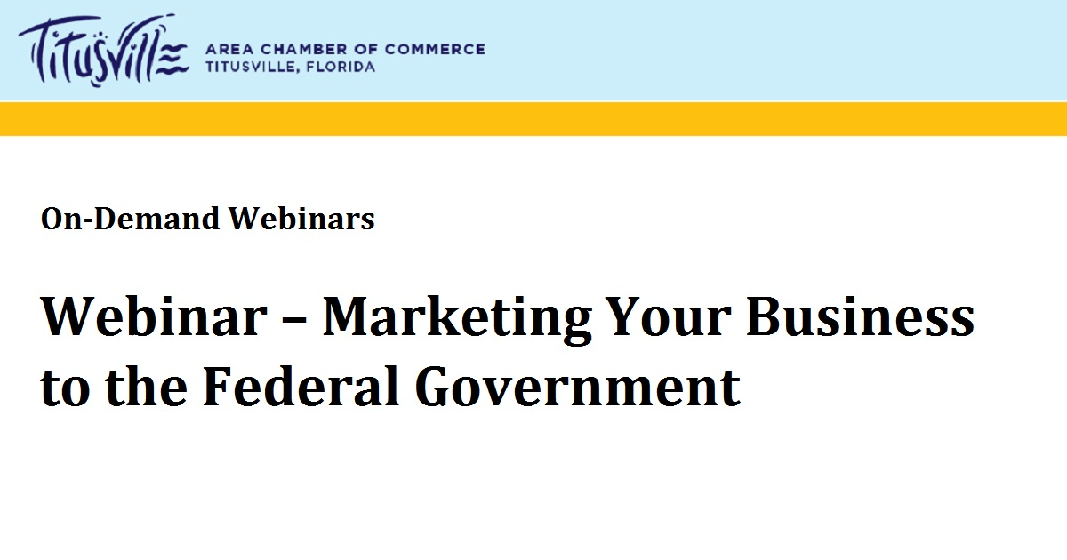 Marketing Your Business to the Federal Government