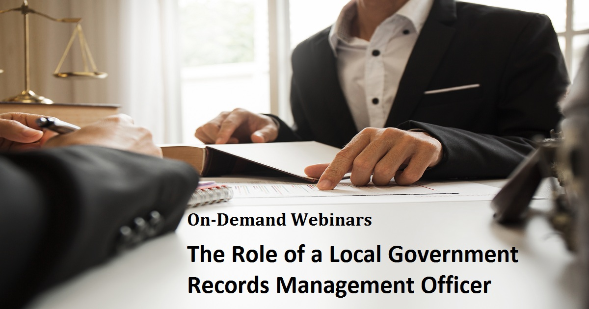 The Role of a Local Government Records Management Officer