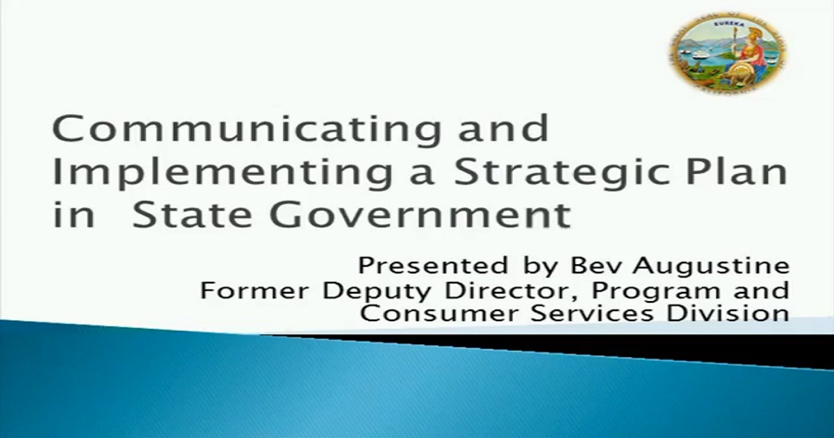 Communicating and Implementing a Strategic Plan in State Government