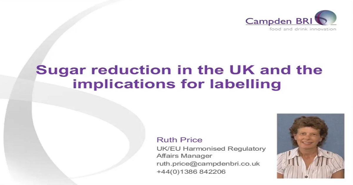 Sugar reduction in the UK and the implications for labelling