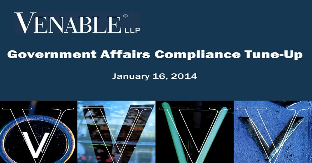 Government Affairs Compliance Tune-Up