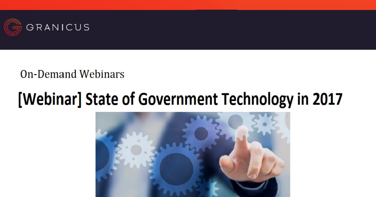 State of Government Technology in 2017