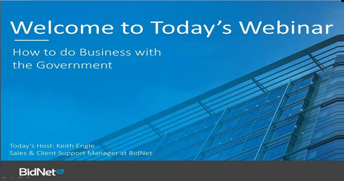 Webinar: How To Do Business With The Government
