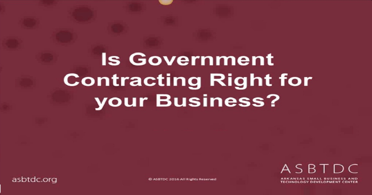 Webinar: Is Government Contracting Right for Your Business?