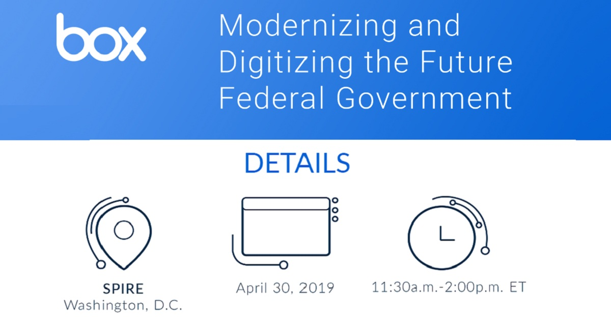 Modernizing and Digitizing the Future Federal Government