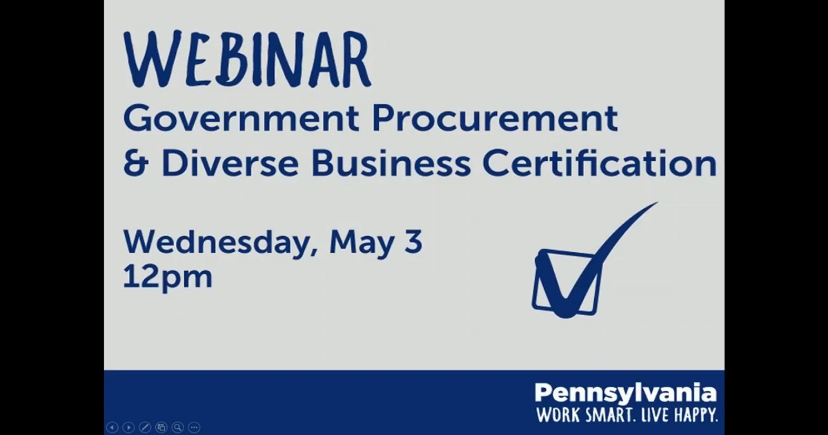 5/3/17 Webinar: Government Procurement And Diverse Business ...