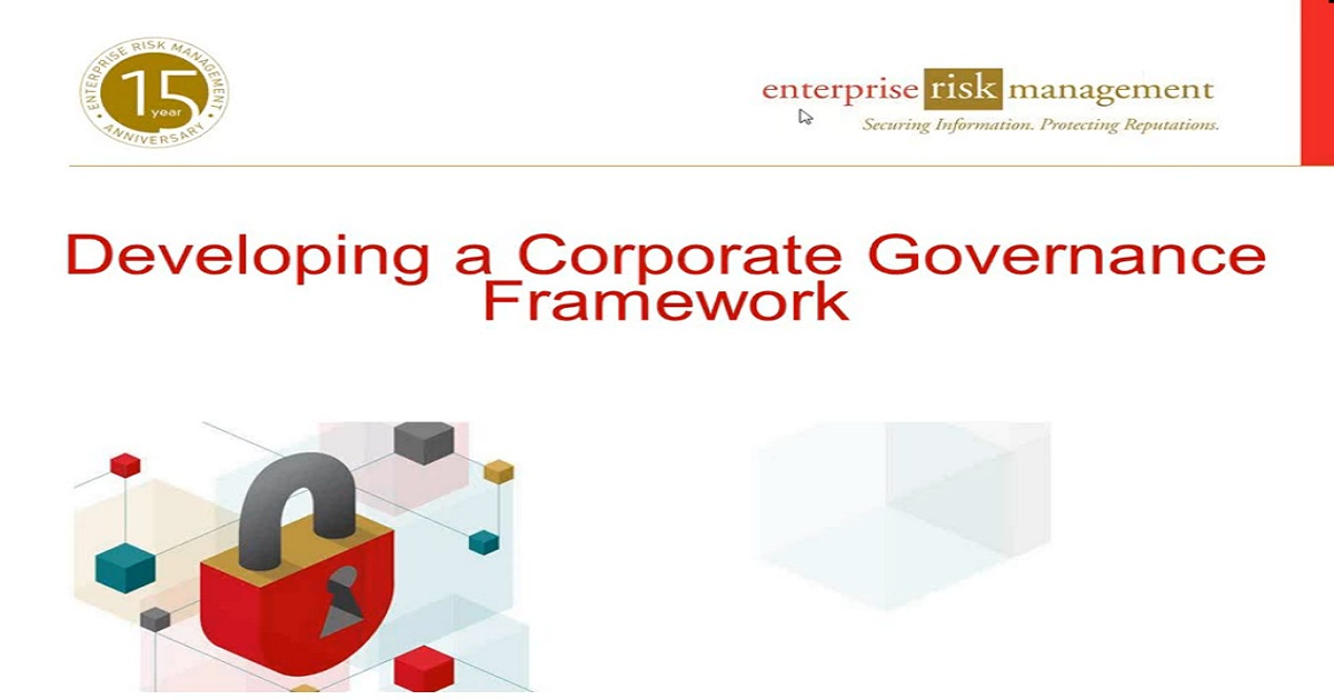 ERM Webinar: Developing a Corporate Governance Framework
