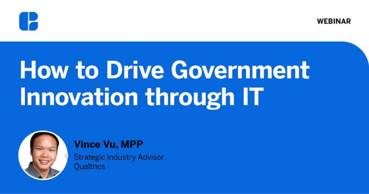How to Drive Government Innovation through IT